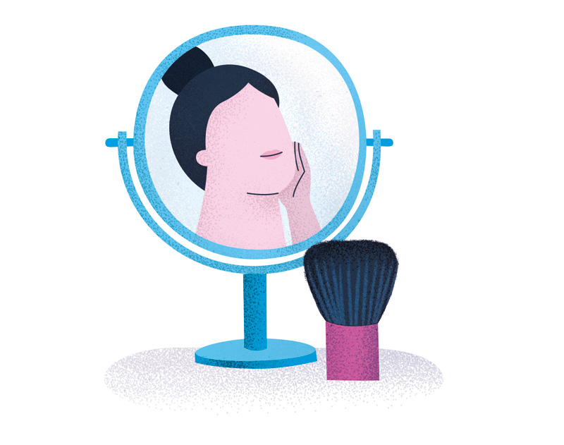 Better Homes and Gardens illustration: skin care