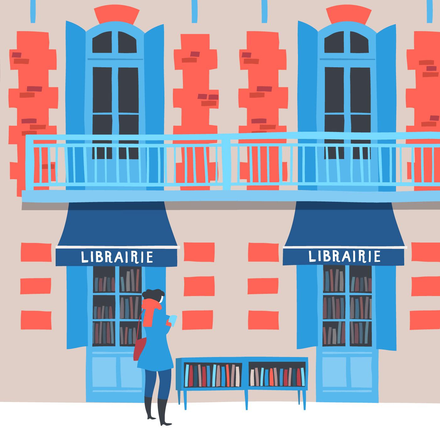 Illustrazione Librerie de Corinne © Silvia Bettini