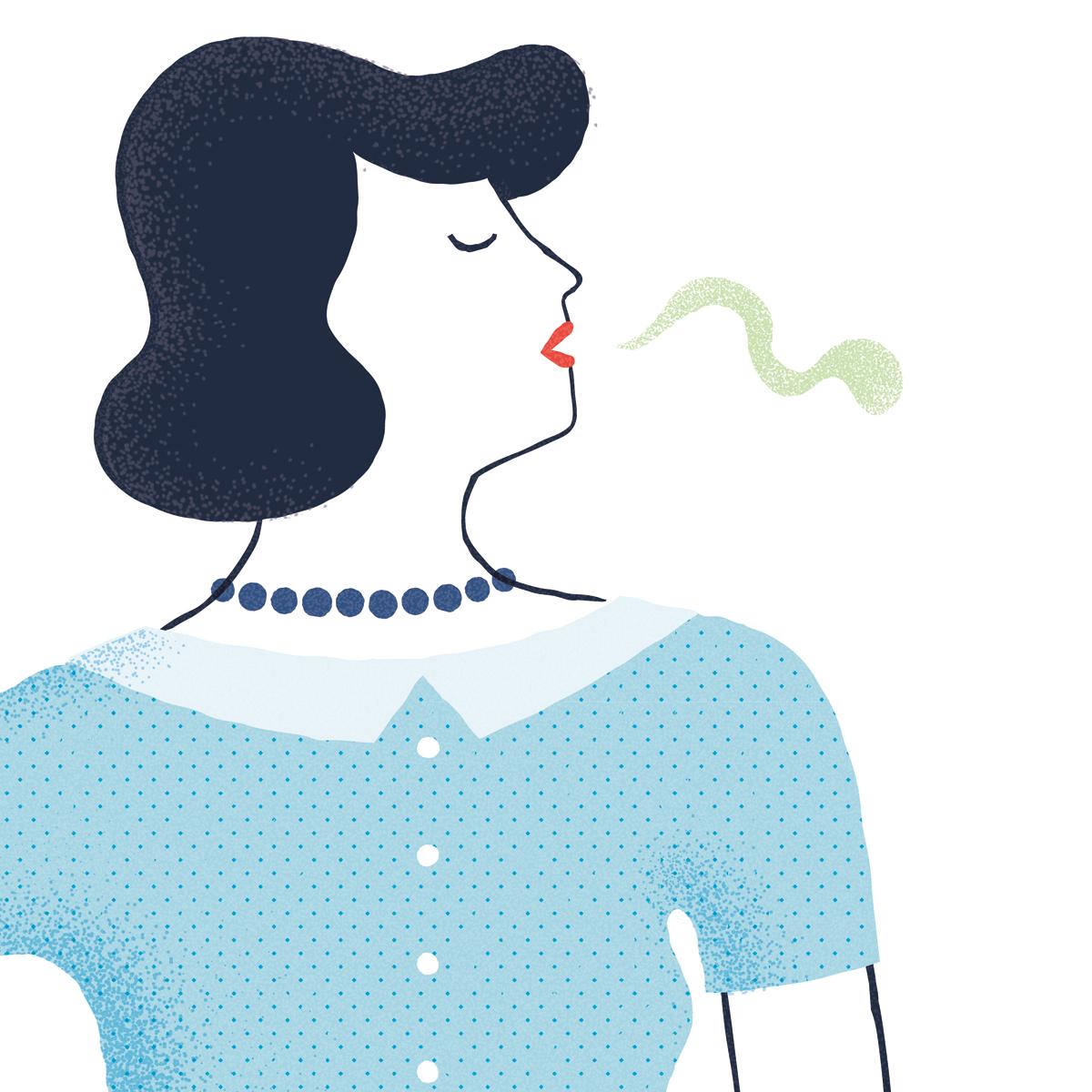 Illustrazione Il buon giorno si vede dal mattino dopo per Dispensa Magazine © Silvia Bettini