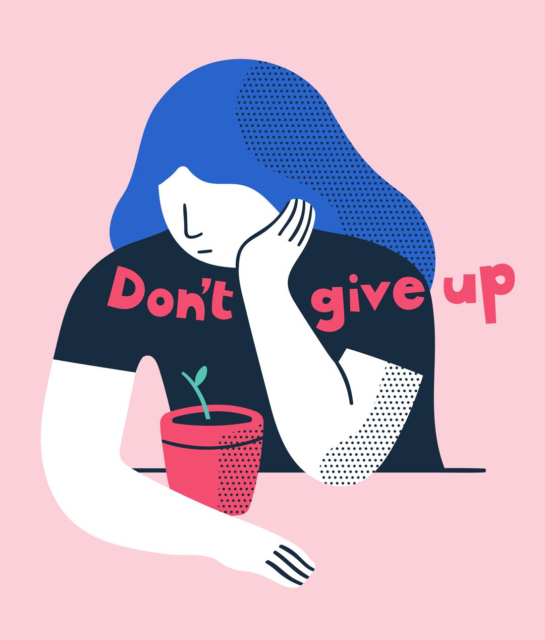 Illustrazione Don't give up © Silvia Bettini