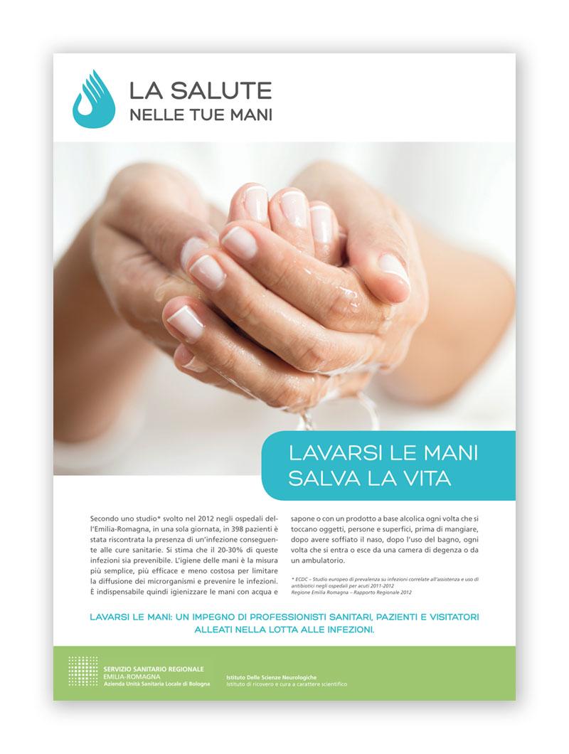 Ospedale Bellaria: la salute nelle tue mani Grafiche @Silvia Bettini