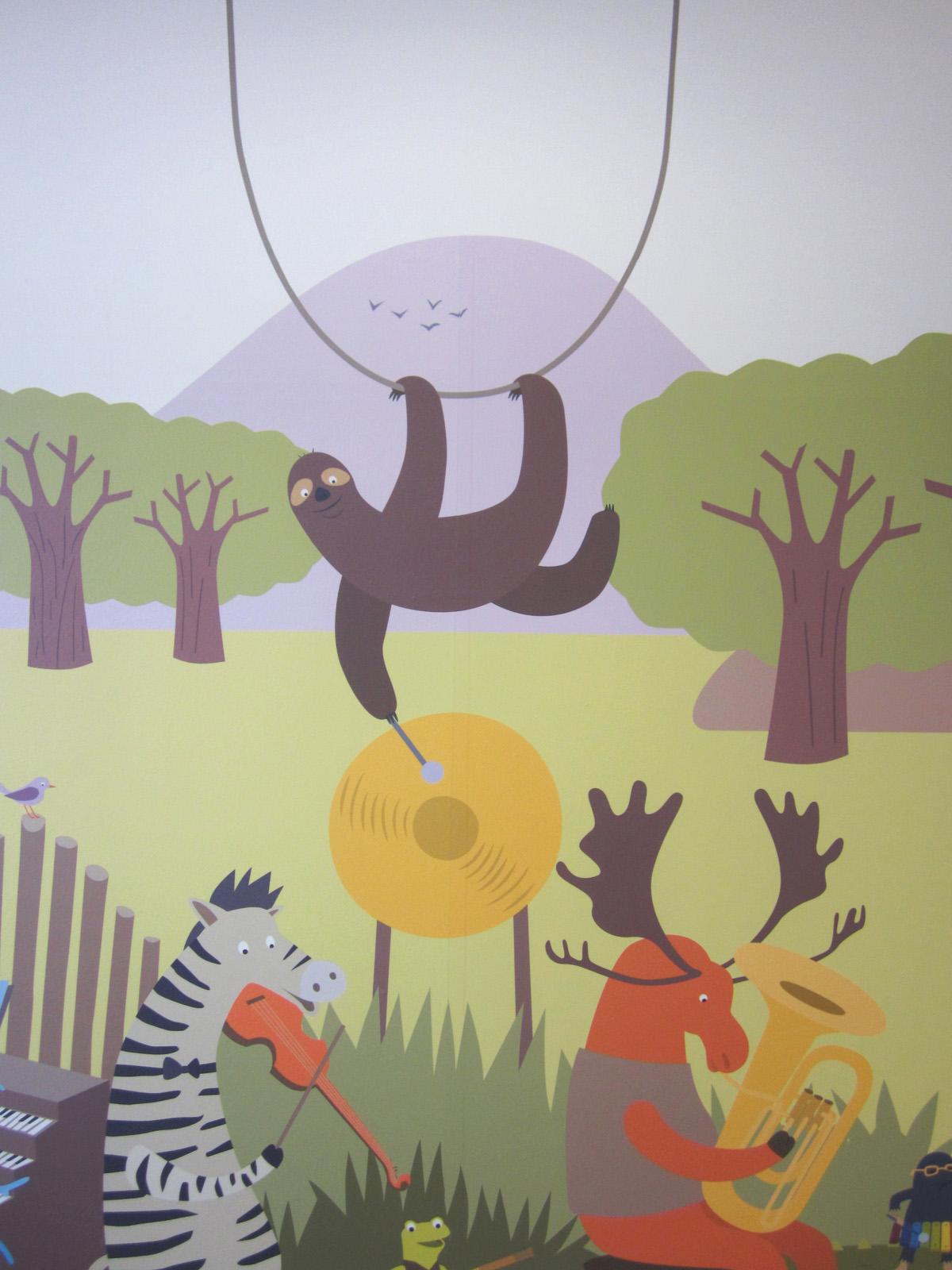 Pediatria Ospedale Magenta: decorazioni illustrate © Silvia Bettini