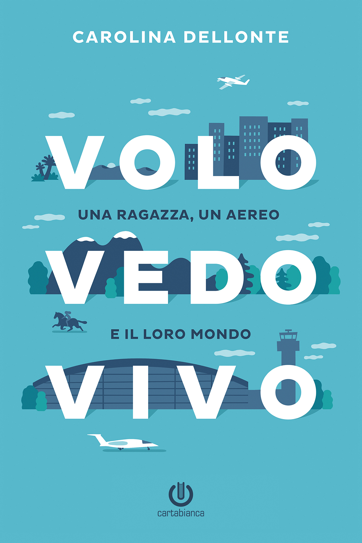 Grafica e illustrazione copertina per Volo Vedo Vivo di Carolina Dellonte edito da Cartabianca Publishing © Silvia Bettini
